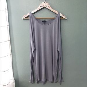Express Gray Cold shoulder Size Small P